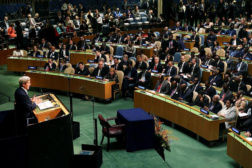 The United Nations Signing Ceremony for the Paris Agreement last ...