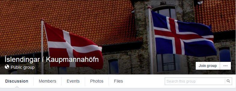 The 'Icelanders in Copenhagen' Facebook groups has nearly 6,000 members.