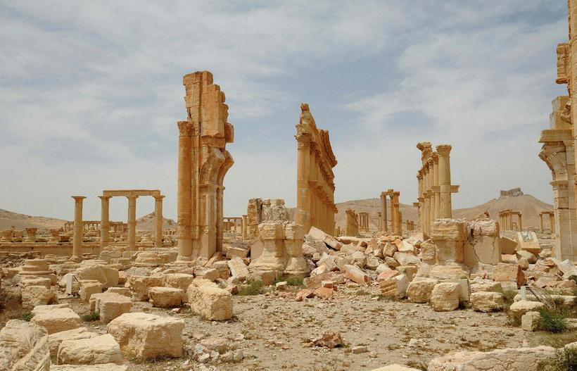 Frá borginni Palmyra eftir Ríki íslams.