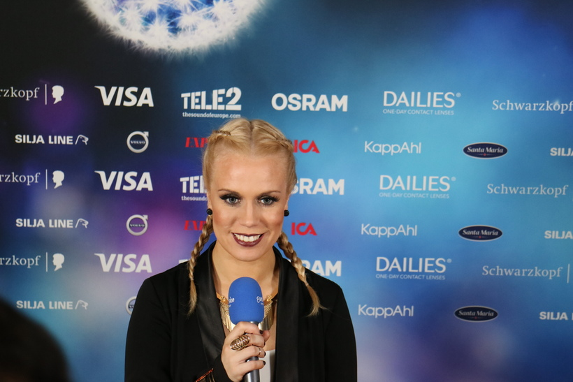 Speaking to Eurovision press.