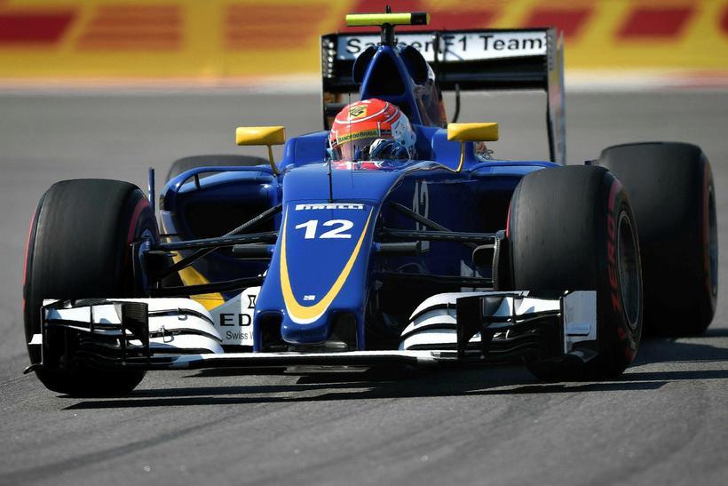 Felipe Nasr á Sauber í rússneska kappakstrnium í Sotsjí.