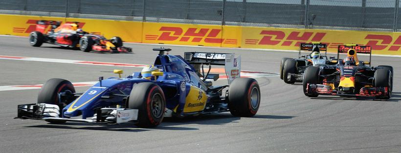 Marcus Ericsson á Sauber í rússneska kappakstrnium í Sotsjí. Á …