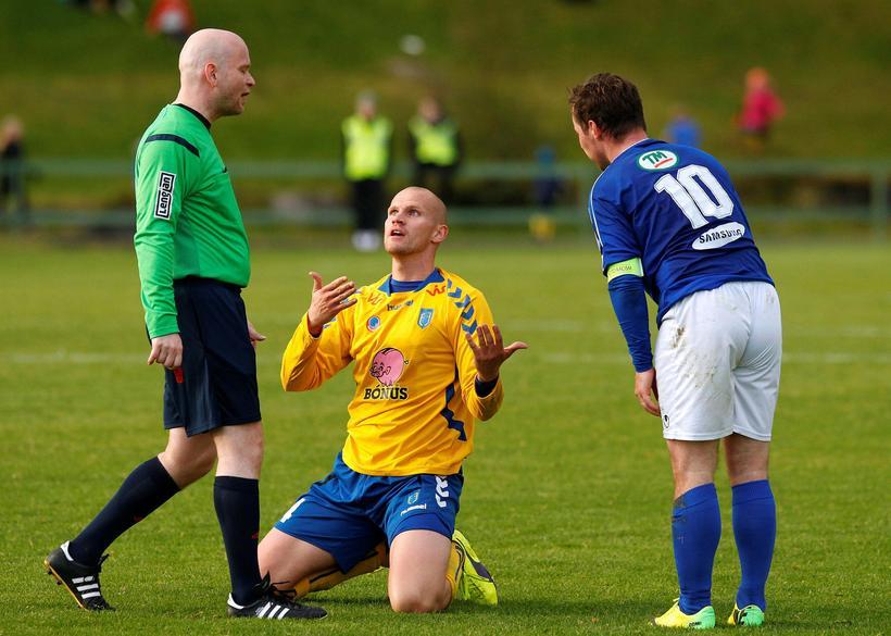 Garðar Örn Hinriksson, Gunnar Már Guðmundsson og Veigar Páll Gunnarsson
