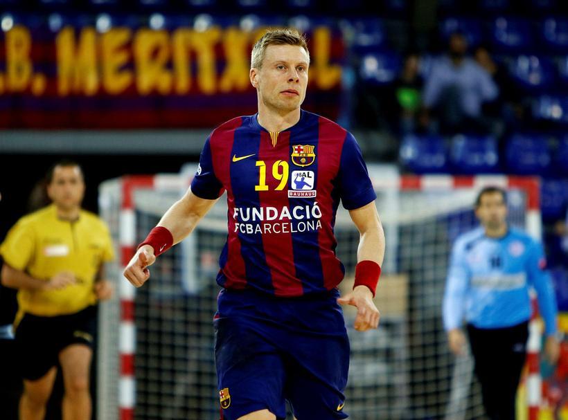 Guðjón Valur Sigurðsson í leik með Barcelona.