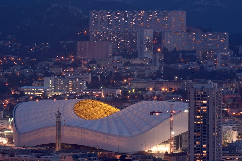 Velodrome football stadium, Marseille.