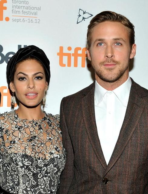 Eva Mendes og Ryan Gosling. Þau virðast skemmta sér vel ...