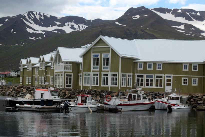 The beautiful town of Siglufjörður in North Iceland.