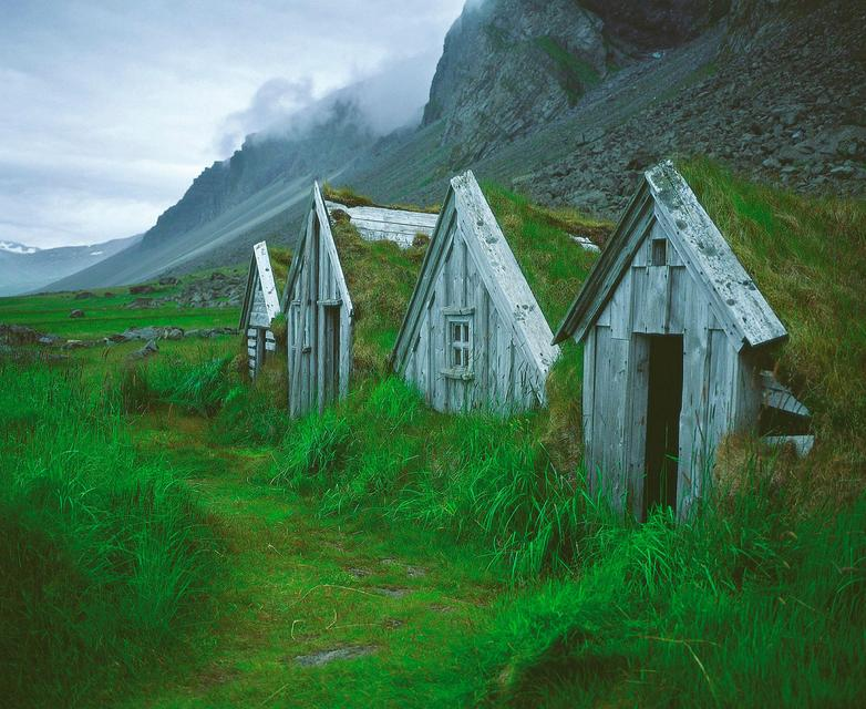 A typical looking Icelandic turf farm. This one, however, was …