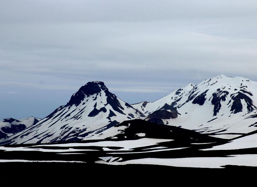 The Kjölur mountain road in Iceland.