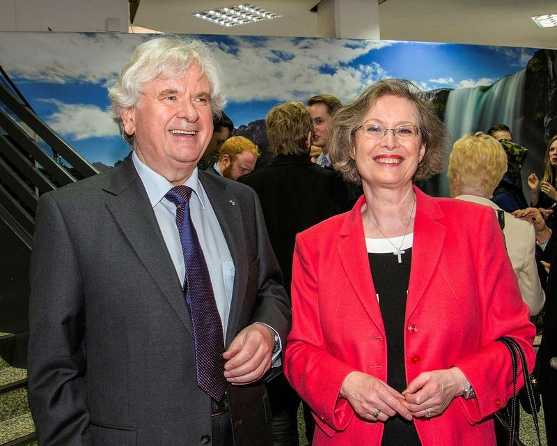 Davíð Oddsson og Ástríður Thorarensen.