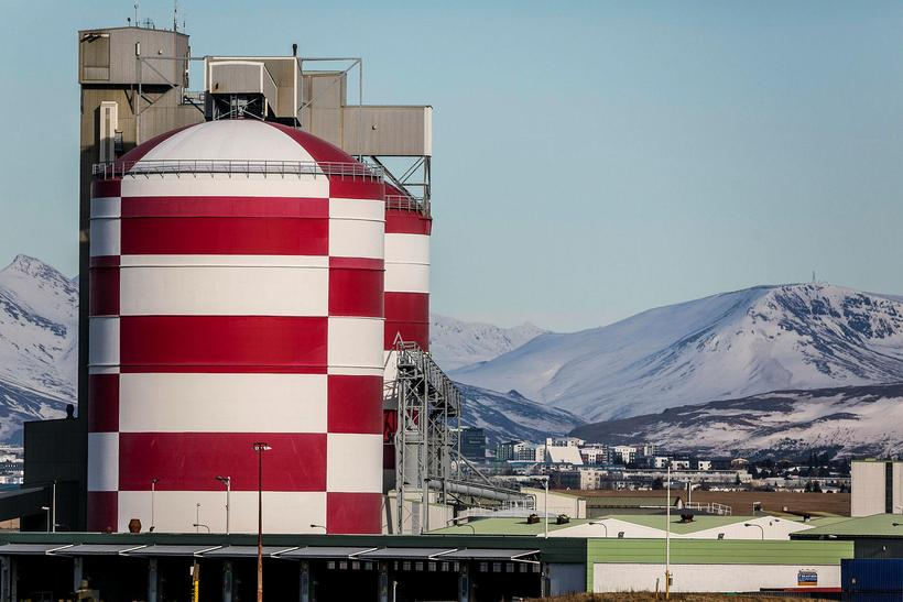 The Rio Tinto aluminum smelter in Straumsvík.