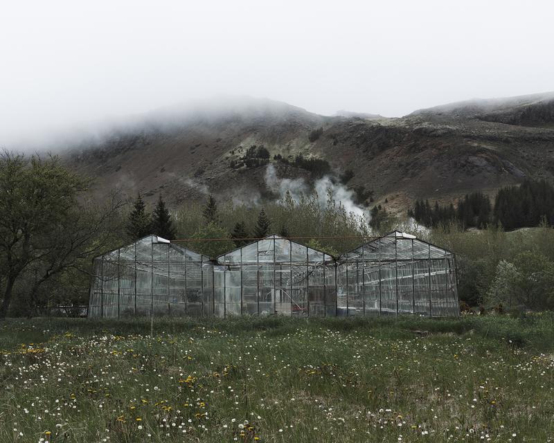 In his work, Valdimar Thorlacius explores the town of Hveragerði …