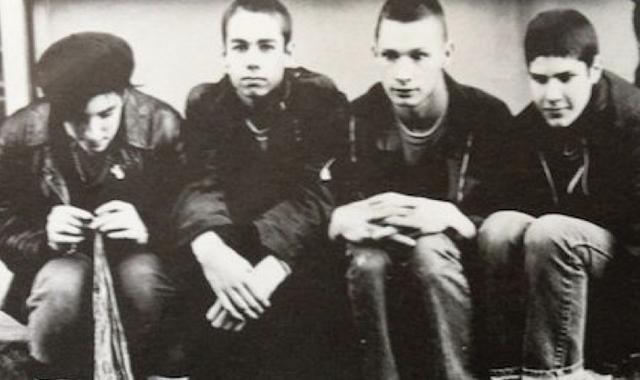 Beastie Boys eins og sveitin var skipuð í upphafi níunda …