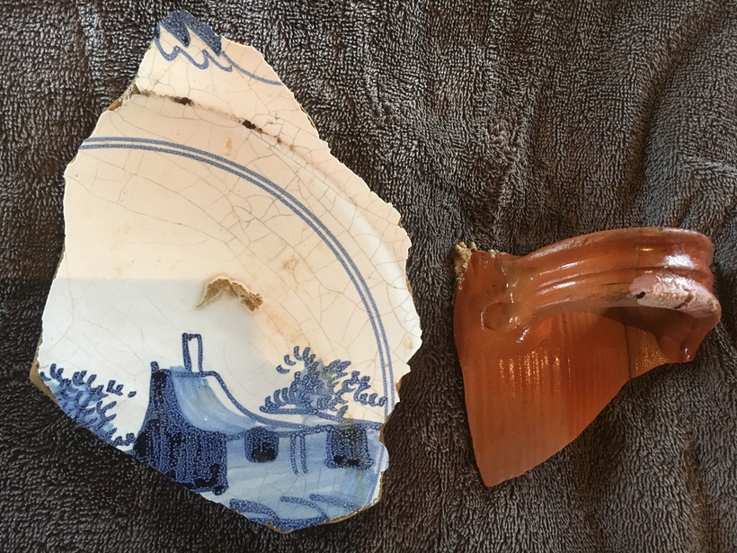 17th Century Dutch pottery recovered from old harbour in Flatey