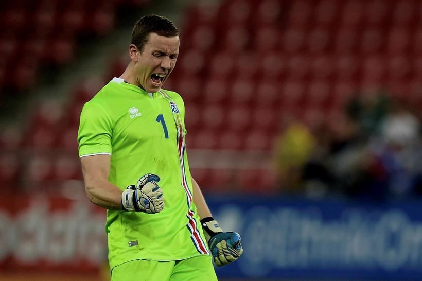 A goalkeeper's joy.