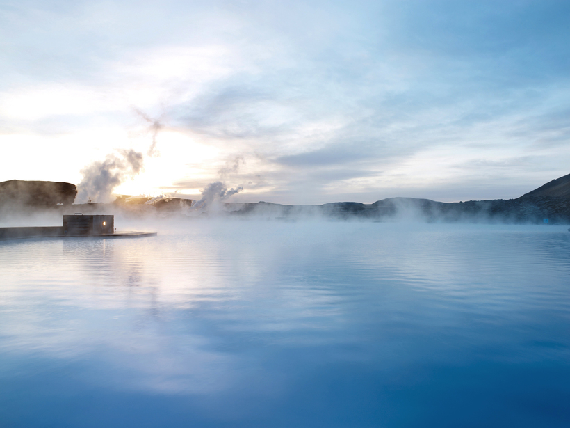 The Blue Lagoon in Iceland is reputed for its healing ...