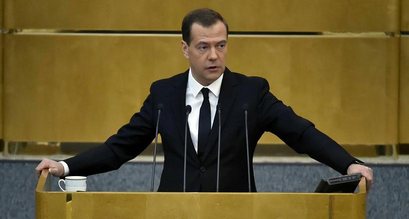 Dmitry Medvedev, forsætisráðherra Rússlands.