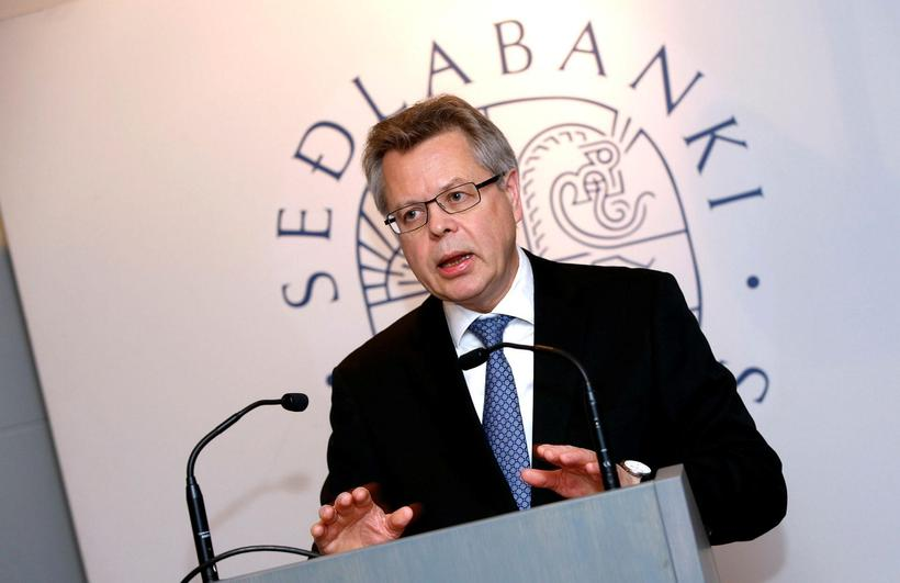 Már Guðmundsson, Governor of the Central Bank of Iceland.