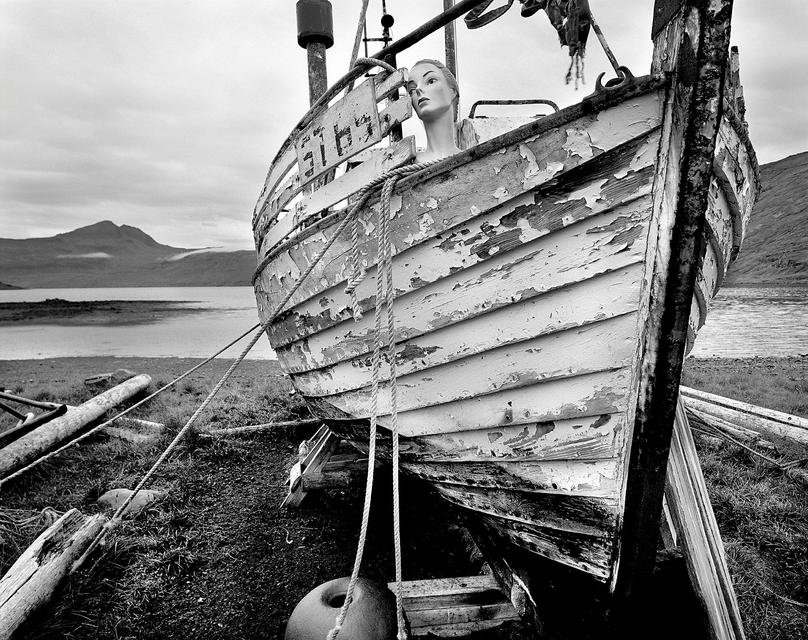 An old boat at Ingólfsfjörður.