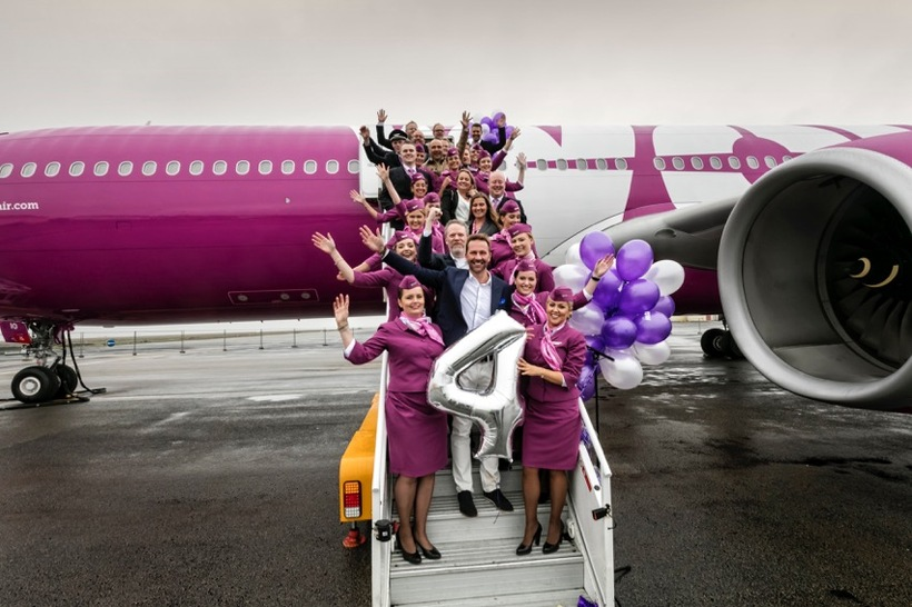 The four year anniversary of WOW air.