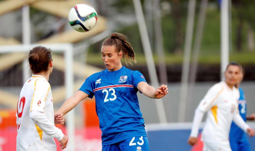 Fanndís Friðriksdóttir scored two of Iceland's eight goals.