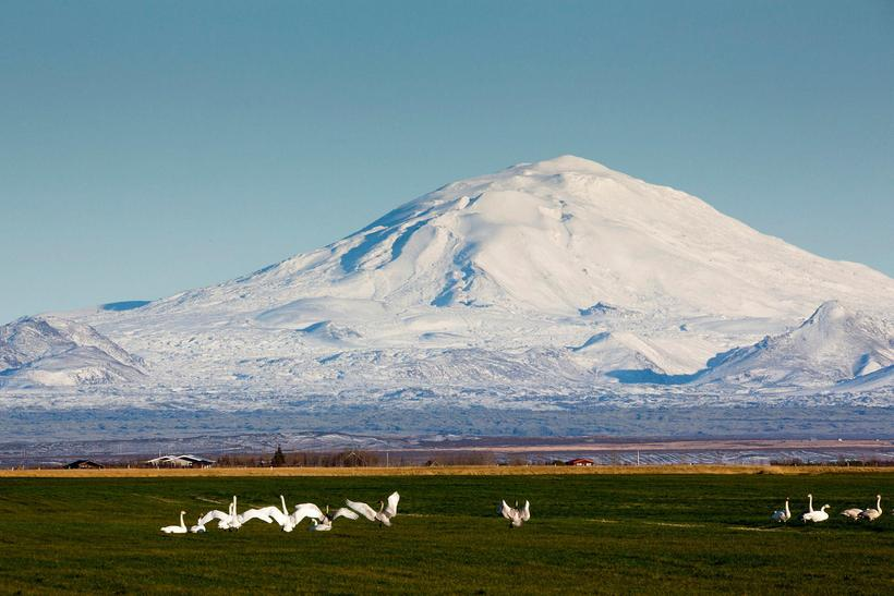 Hekla volcano in South Iceland.