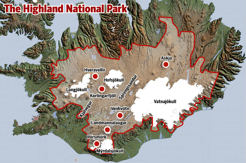 The proposed new national park.