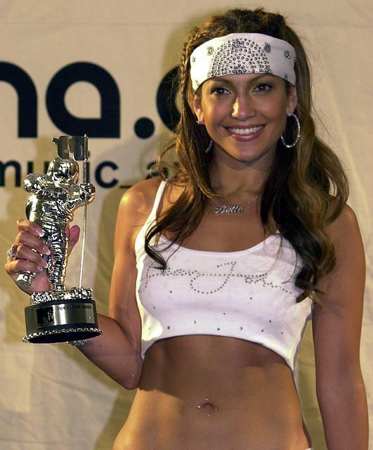 Jennifer Lopez. Þessi mynd var tekin árið 2000.
