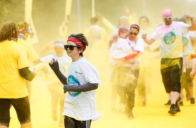 Color run.