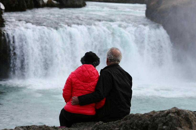 Goðafoss in North Iceland is one of the country's top …