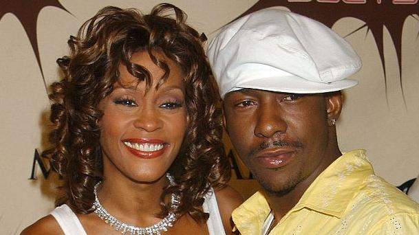 Whitney Houston og Bobby Brown áttu í stormasömu sambandi. Í ...