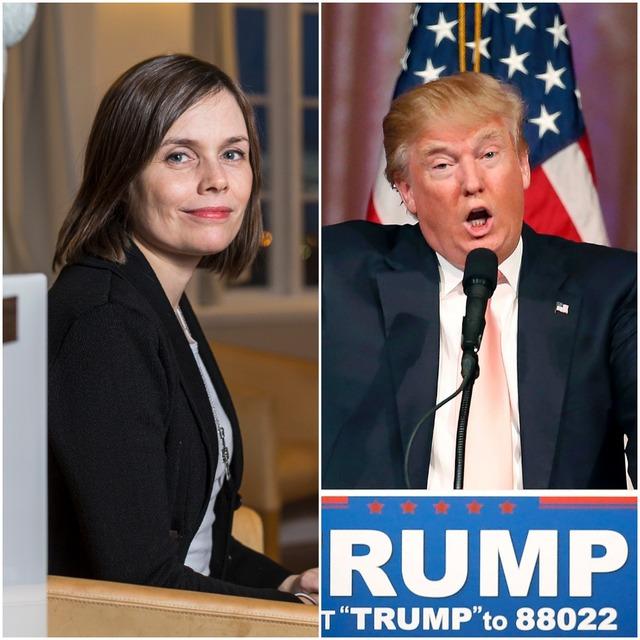 Katrín skilur ekkert hvernig hún komst á póstlista framboðs Donalds ...