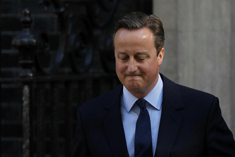 David Cameron, forsætisráðherra Breta, hyggst segja af sér.