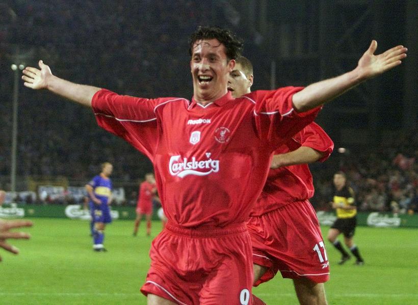 Robbie Fowler lék um árabil með Liverpool.