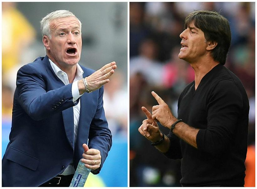 French coach Didier Deschamps and German coach Joachim Löw.