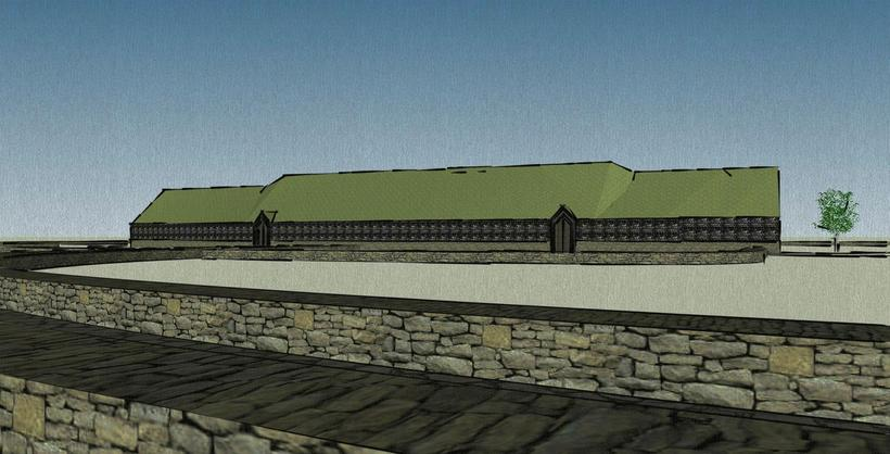 The longhouse will be the centrepiece of the village, and …