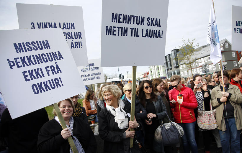 Iceland was hit by a series of strikes over pay ...