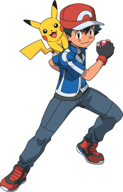 Pickachu ásamt Pokémon-þjálfaranum Ash Ketchums.