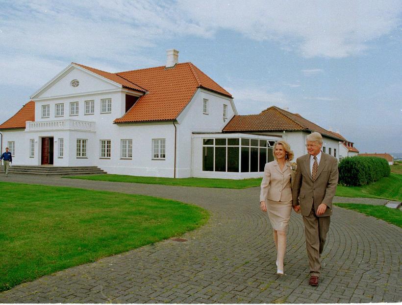 Grímsson with his first wife, Guðrún Katrín Þorbergsdóttir, at the ...