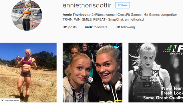 Annie Mist who won the women's CrossFit Games in 2012 …