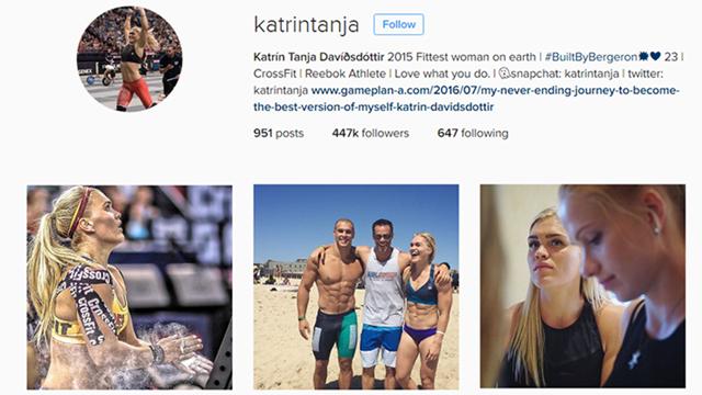 Katrín Tanja has 447.000 Instagram followers.