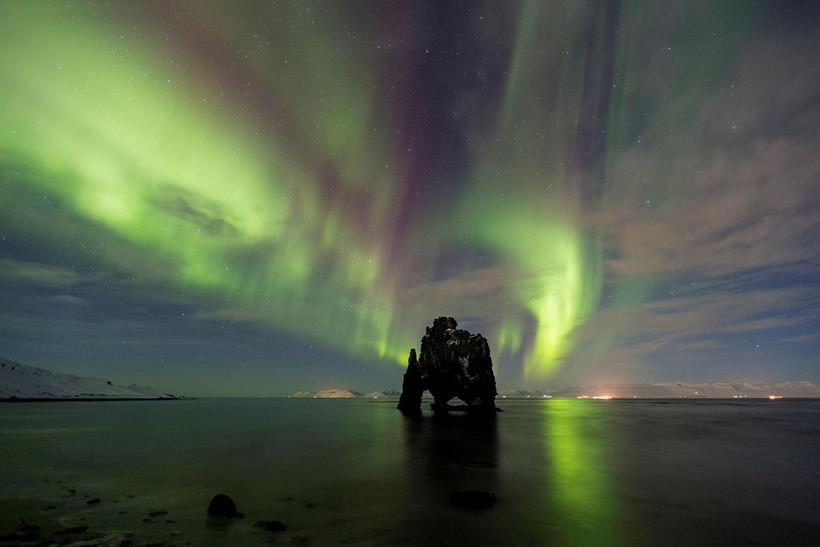 Hvítserkur is a popular destination over the winter for those ...