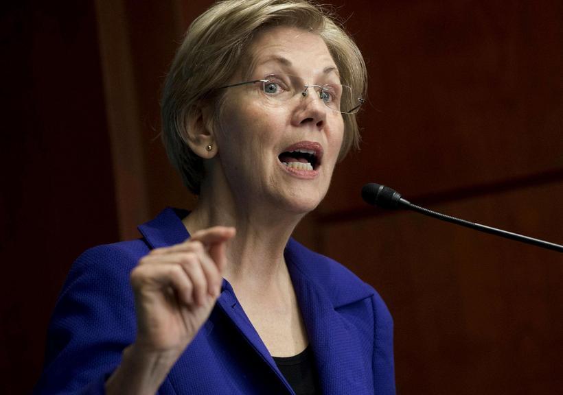 Elizabeth Warren, öldungadeildarþingmaður. Líklegt þykir því að annað hvort Harris …