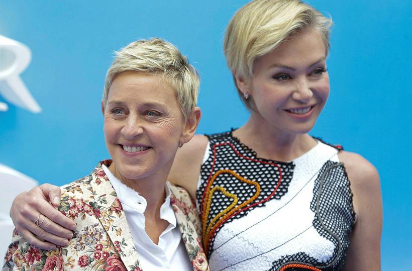 Ellen DeGeneres og eiginkona hennar, leikkonan Portia de Rossi.