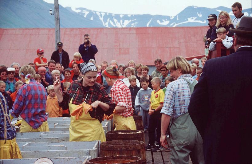 Frá Síldarævintýrinu á Siglufirði.