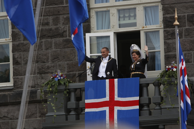 President Guðni Th. Jóhannesson and First Lady Eliza Reid on ...