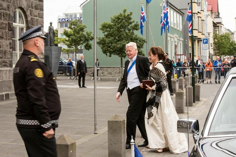 Former President Ólafur Ragnar Grímsson and First Lady Dorrit Moussaieff ...