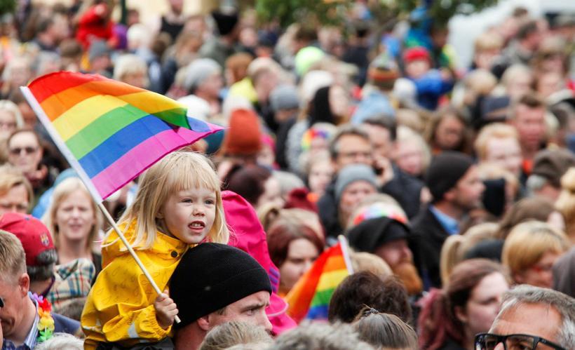 Pride fáninn er líklega litríkasti fáni sem til er og …