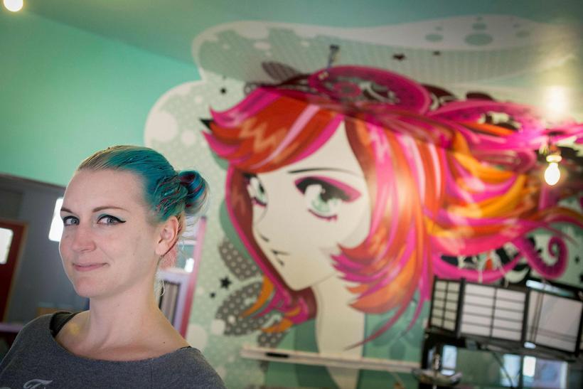 Sara Hochuli at the new Kumiko tea house. Kumiko, a ...