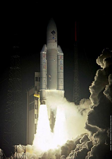 Rosettu skotið á loft með Ariane V-eldflaug 2. mars árið …